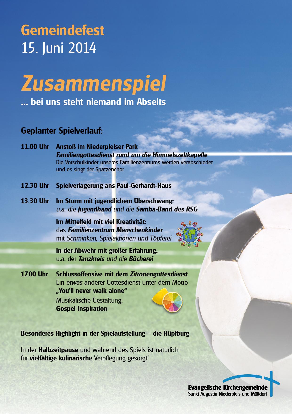 Gemeindefest Anzeige für U4