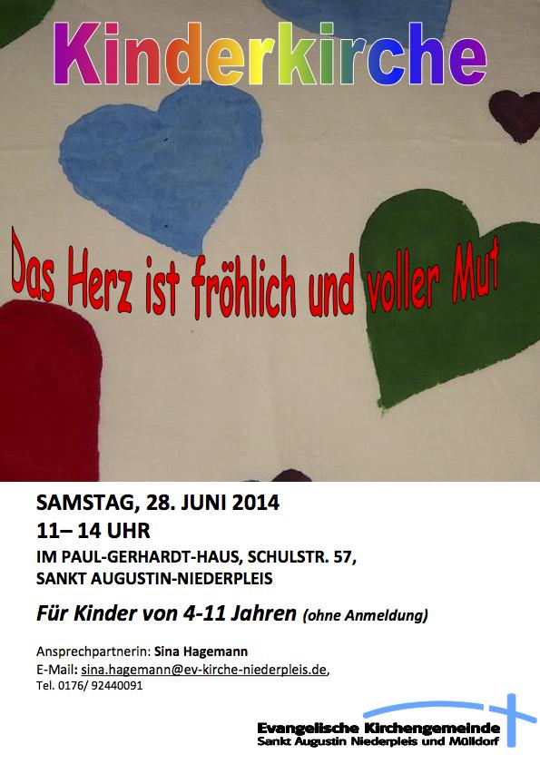 Kinderkirche im Juni