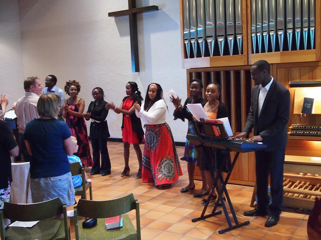 Chor der Kisuahili-Gemeinde