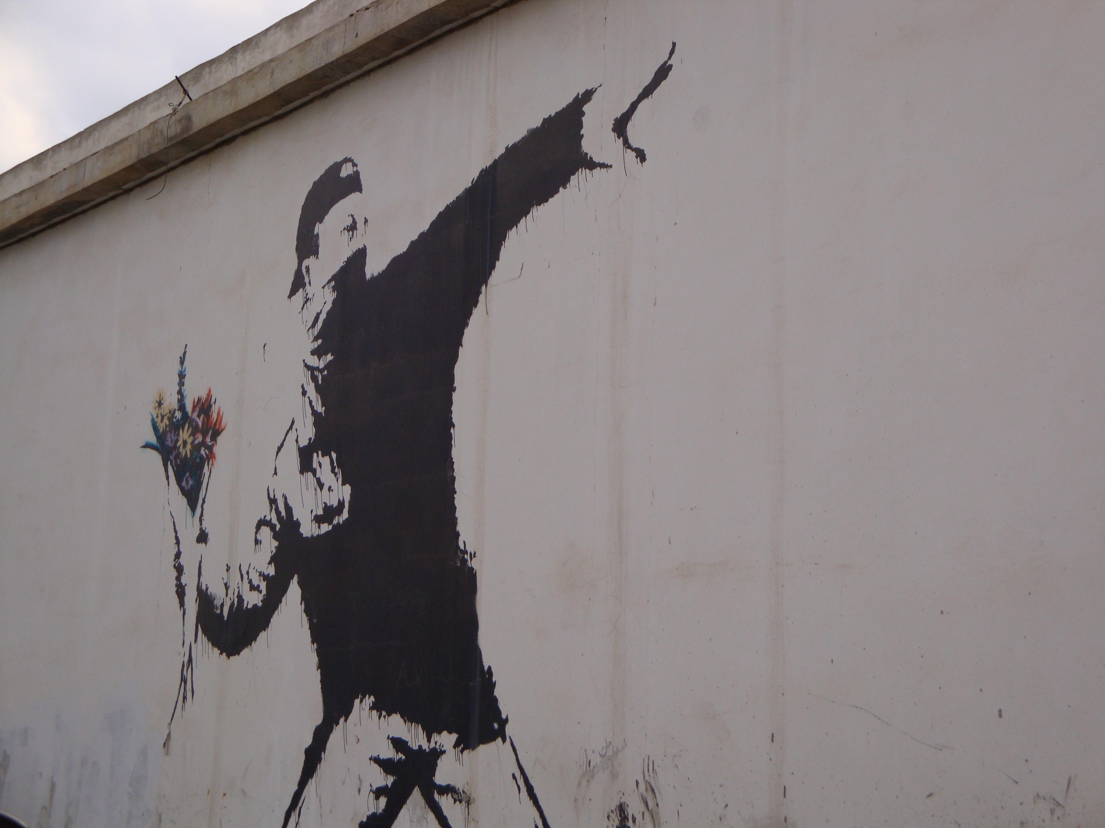 Blumenwerfer Banksy
