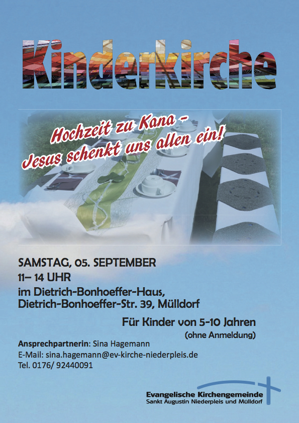 Kinderkirche Plakat Sept. 2015