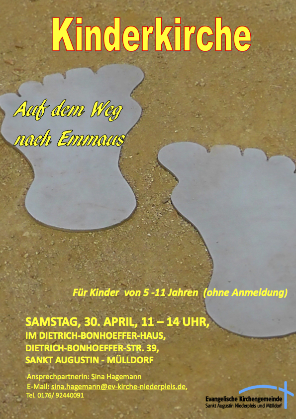 Flyer April Auf dem Weg nach Emmaus